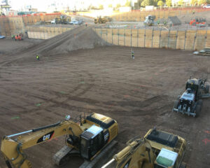 Earth Retention Work at the Block 23 Project