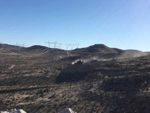 Building access road in Nevada Powerline project