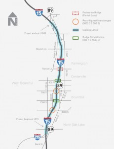 I-15 Davis County Project Map