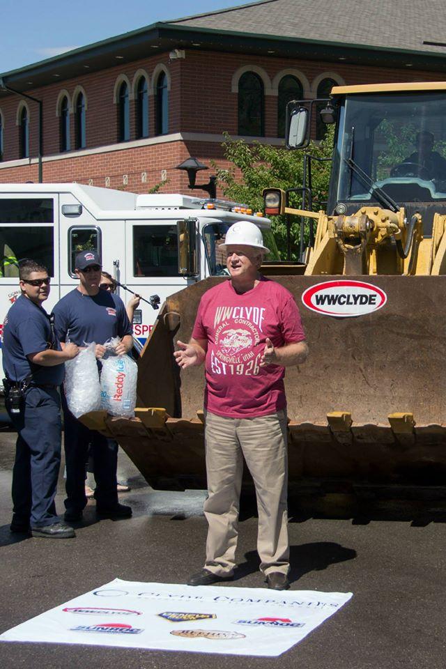 ice bucket challenge, construction ice bucket challenge,