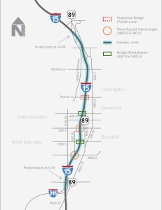 I-15 construction map