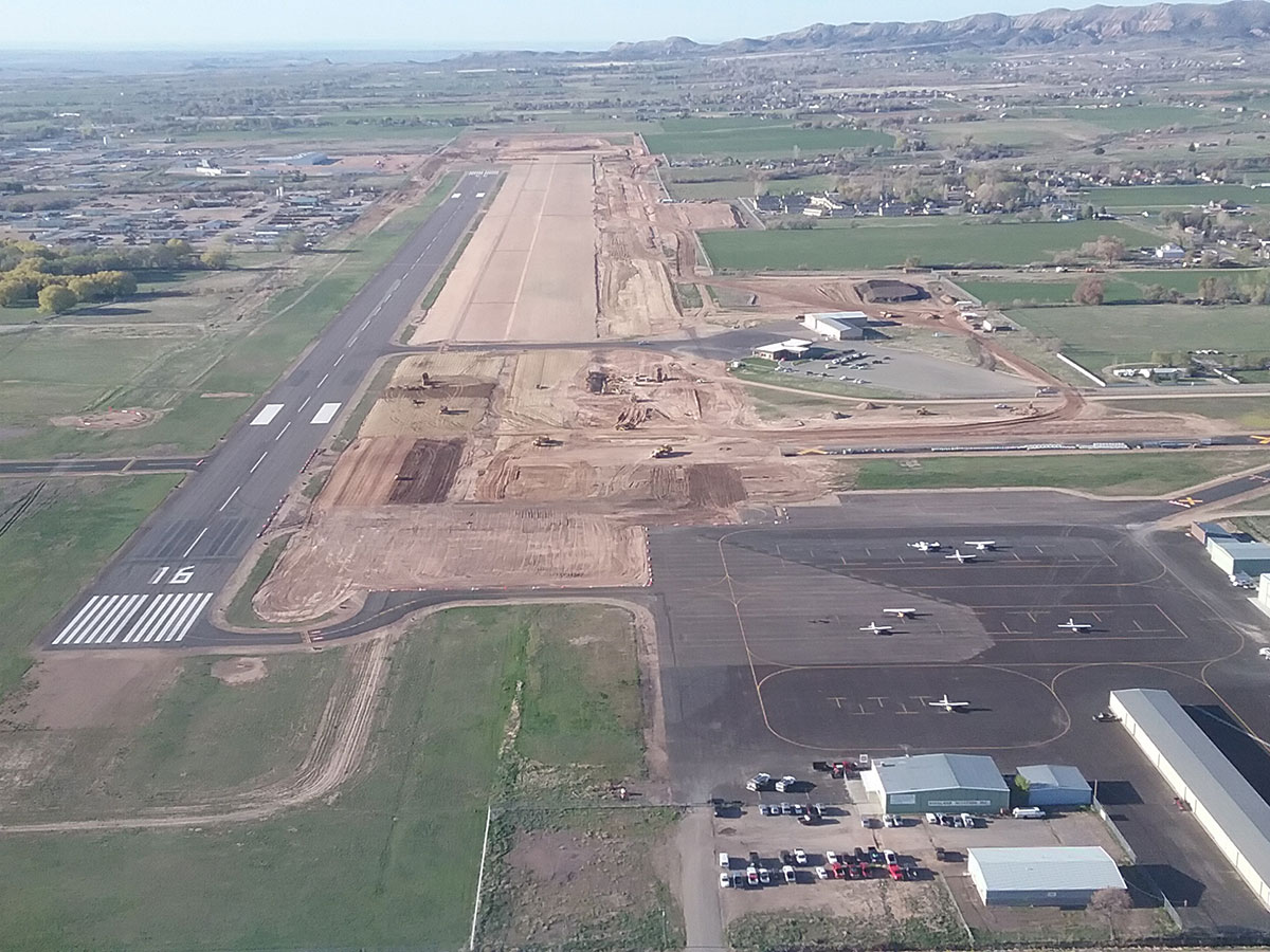Vernal Airport Runway Reconstruction Aerial View