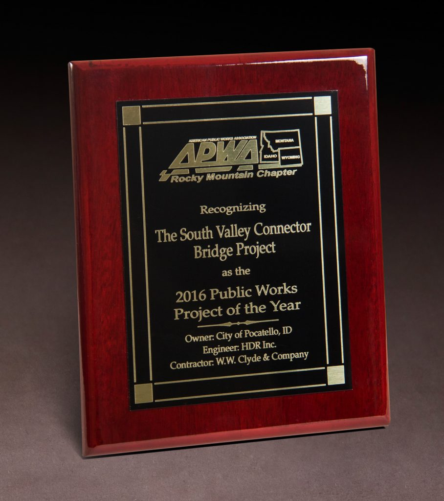 2016 APWA  Project of the Year