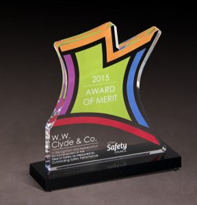 2015 Utah Safety Council Award of Merit