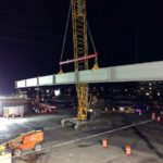 Crews and equipment will work day and night (weather permitting) to complete the construction of the new overpass bridge deck on Bangerter Hwy over 9000s