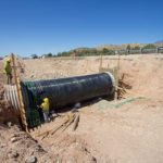 Building culvert extension for Interstate 15 climbing lane