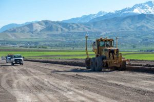 Mountain View Corridor construction prepping for road base