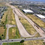 Aerial View of Mountain View Corridor construction