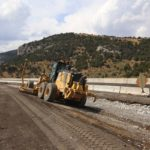 Earthwork grading in preparation for new climbing lane on I-80 at Pequop pass