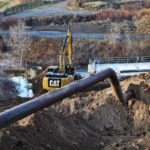 WW Clyde installing pipe between Santaquin and Spanish Fork Utah