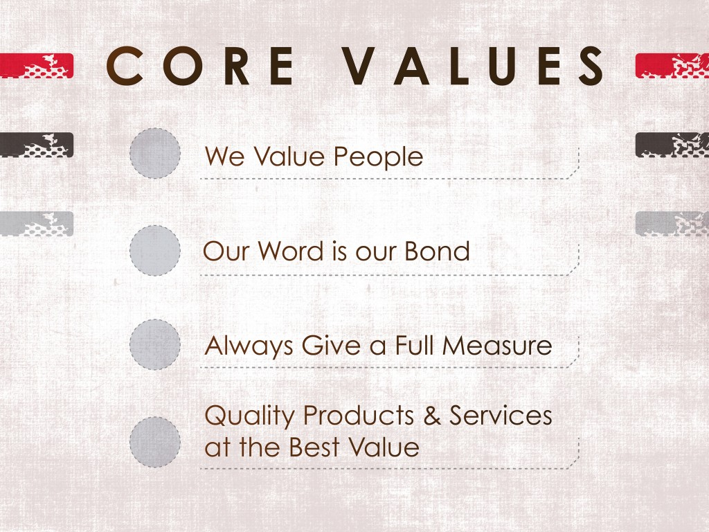W.W. Clyde & Co. Core Values