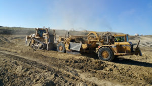 Excavating 160,000 cubic yards of dirt to expand the landfill