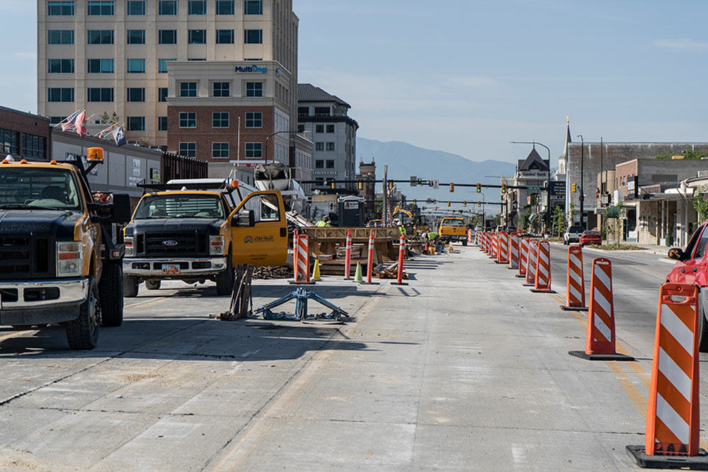 WW Clyde completes construction on University Ave in Provo, UT