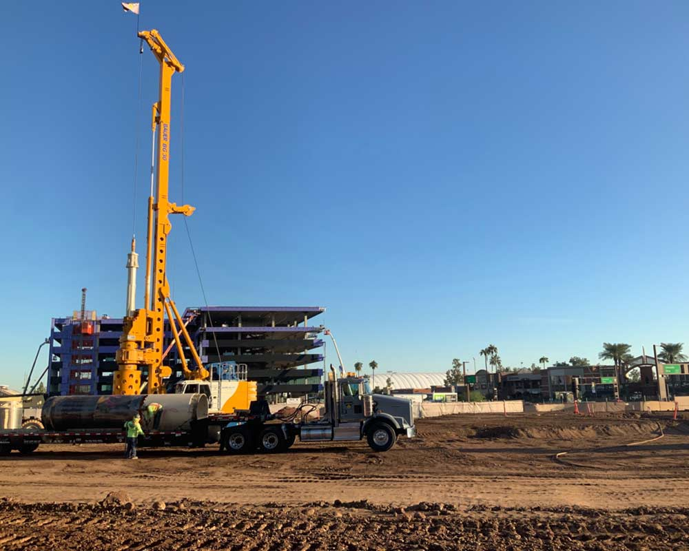 Arizona State University Job Site drilling