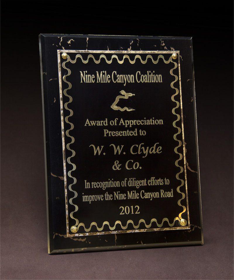 2012 NMCC Award of Appreciation
