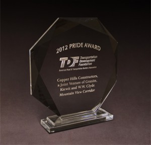 2012 Transportation Development Foundation Pride Award