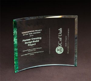 2010 AGC of Utah Transportation Project of the Year - Highway Pioneer Crossing Design-Build Project