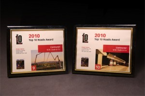 2010 Roads & Bridges Top Ten Roads Award