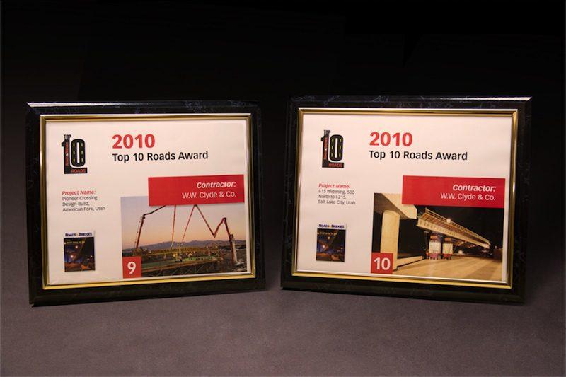 2010 Roads & Bridges Top Ten Roads Award