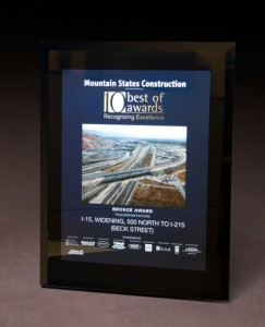 2010 Mountain States Construction 10 Best of Awards - Transportation