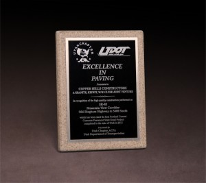 2012 American Concrete Paving Association UDOT Excellence in Paving Award