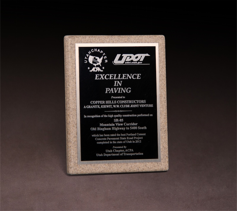 2012 ACPA UDOT Excellence in Paving Award