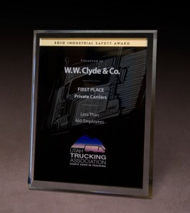 2010 Utah Trucking Association Industrial Safety Award