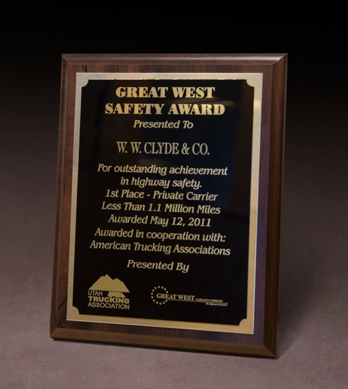 2011 UTA Great West Safety Award