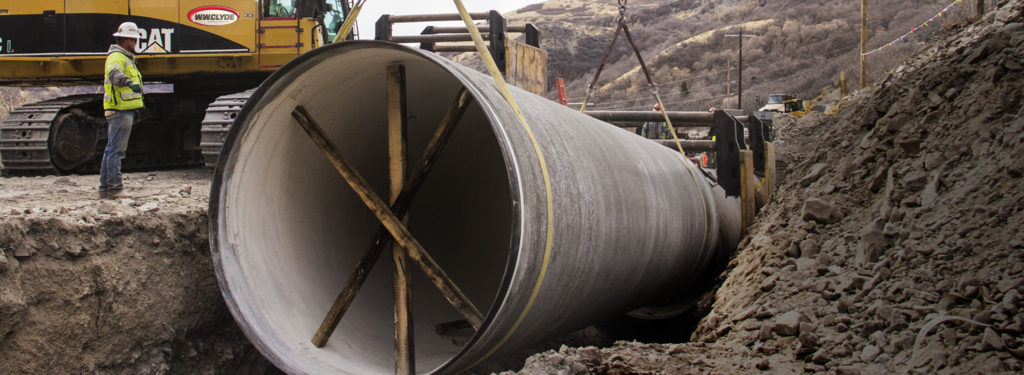 pipe line and drainage installation