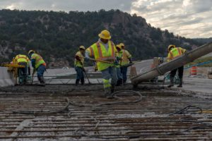 concrete repaving over bridge deck on I-70
