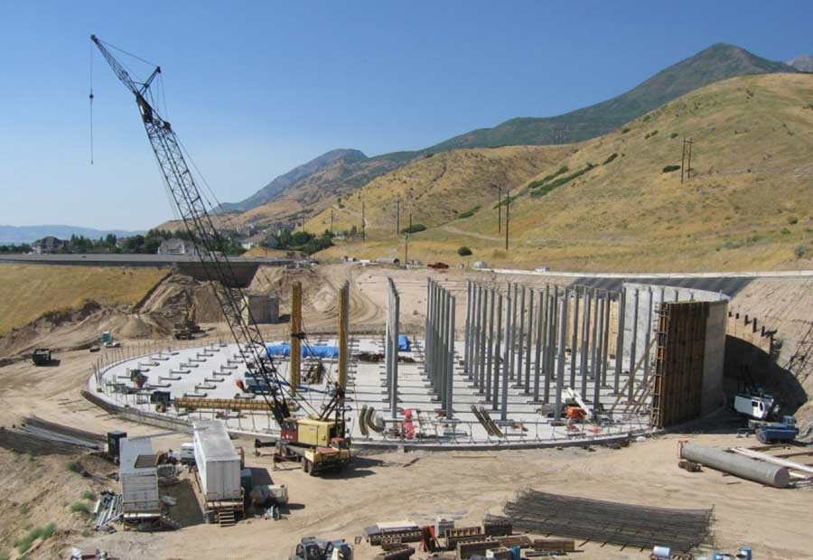 utah valley 20 Million Gallon water tank constructed by WW Clyde